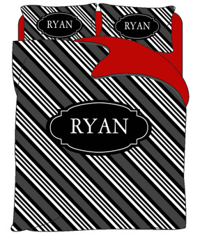 Custom Bedding - Ryan Stripe