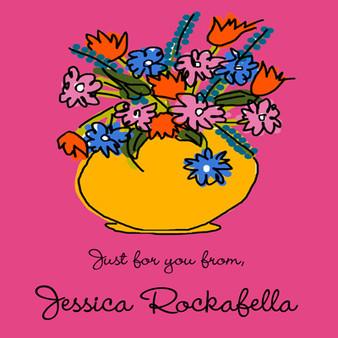 Stickers- Flower Vase