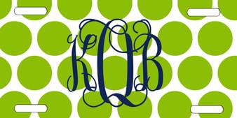 Copy of License Plate - Polka Dot Lime