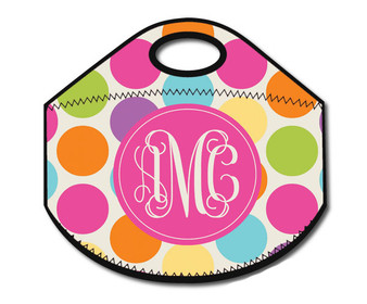 Lunch Tote- Polka Dots Brights