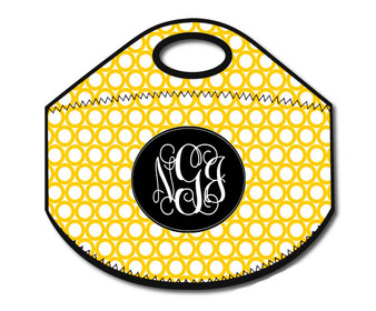 Lunch Tote- Yellow Rings