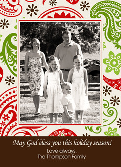 Holiday Photocard-Holiday Paisley