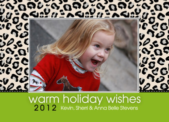 Holiday Photocard-Holiday Leopard