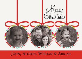 Holiday Photocard-Holiday Ornaments