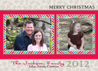 Holiday Photocard-Natural Leopard