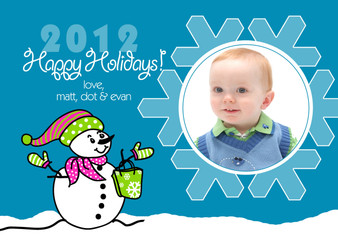 Holiday Photocard-Snowman