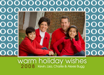 Holiday Photocard-Ooh Blue and Brown