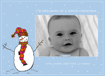 Holiday Photocard-Dreaming of a White Christmas