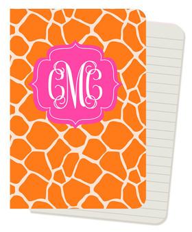 Mini Journals - Orange Giraffe