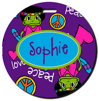 Round Luggage Tag-Far Out Frooglie
