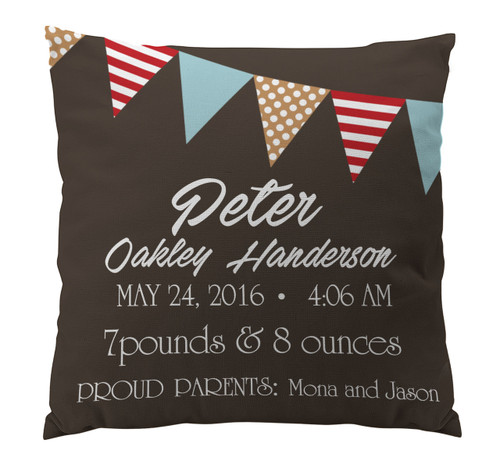 Pillow-Birth Announcement-Banner Boy