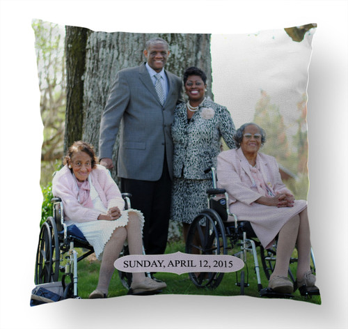 Pillow- Custom Photo Special Occasion Pillow