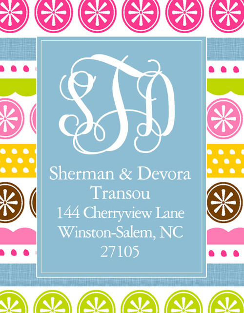 Address Stickers - Whimsy Bright