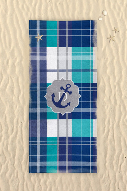 Beach Towel-Anchor's Away