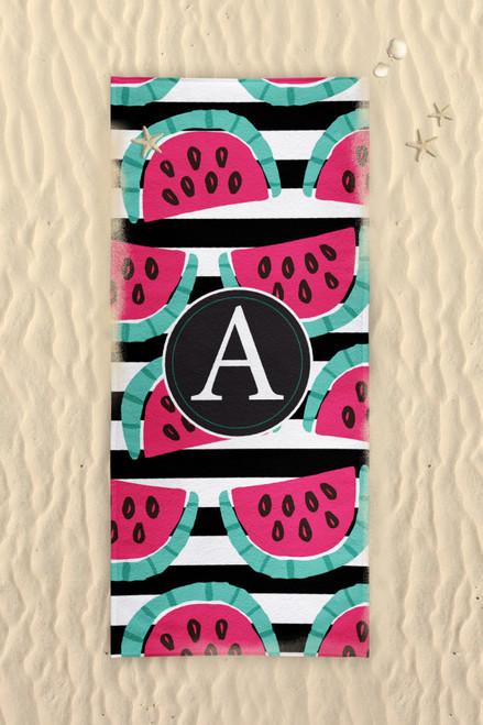 Beach Towel-Watermelon Stripes