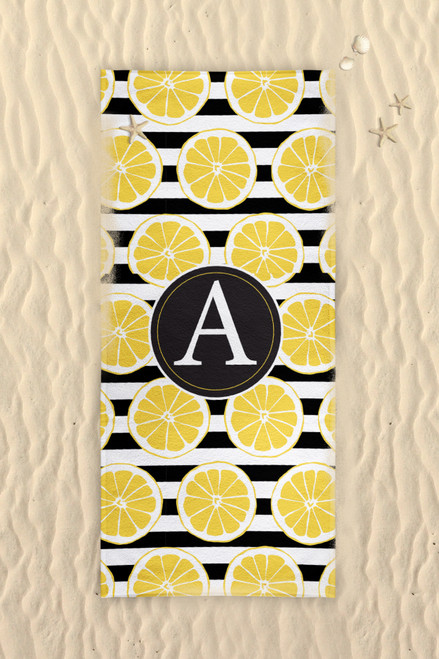 Beach Towel-Lemon Stripes