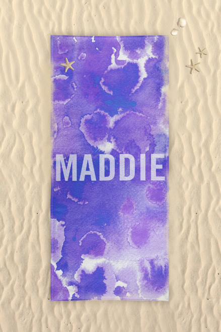 Beach Towel-Purple Passion