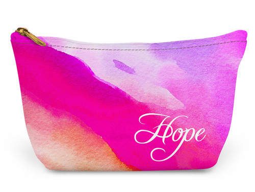 Accessory Zip T-Tote- Watercolor Wave