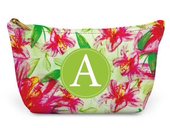 Accessory Zip T-Tote- Pink Floral Pattern