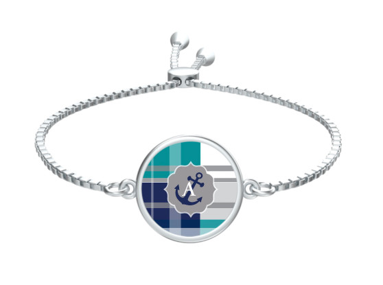 Anchor's Away Slide Bracelet