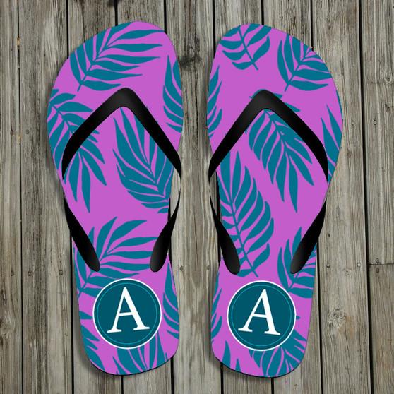 Flip Flops- Graphic Palm Tropical