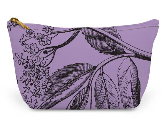 Accessory Zip T-Tote- Purple Elder Flower
