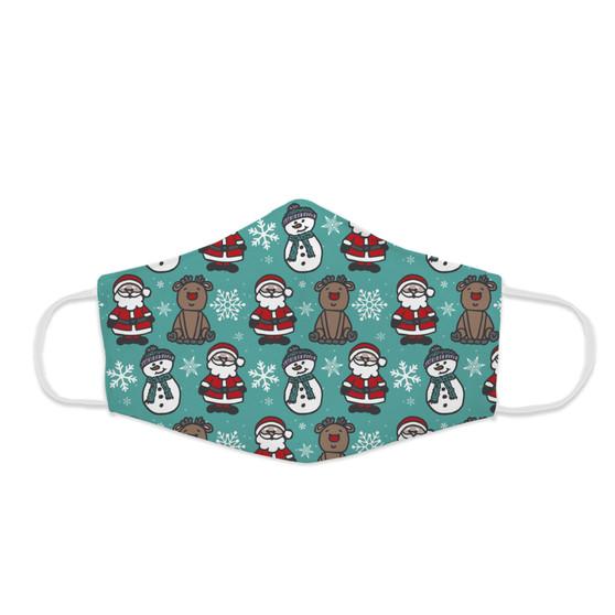 Face Mask - Frosty Rudolph Santa