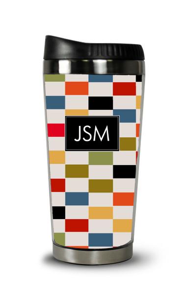 Personalized Travel Tumbler- Color Blocks
