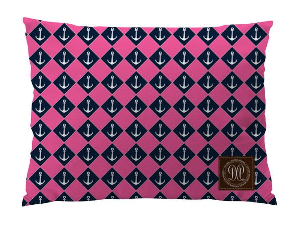 Dog Bed -JP-Pink Nautical