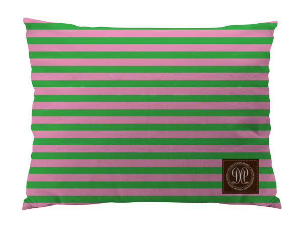 Dog Bed -JP-Pink and Green Stripe