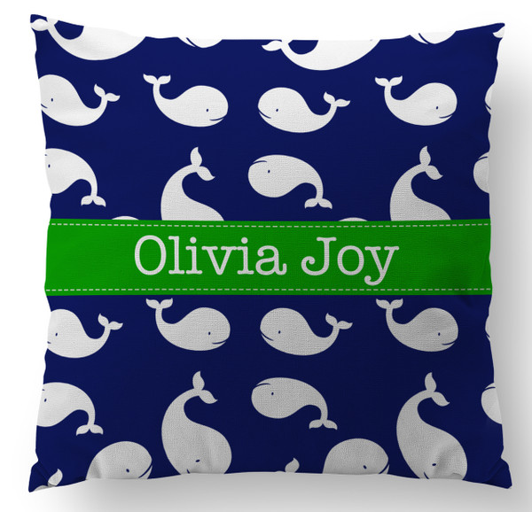 Pillow- Happy Whales