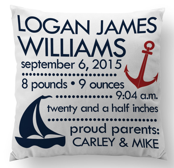 Pillow-The Nautical Baby