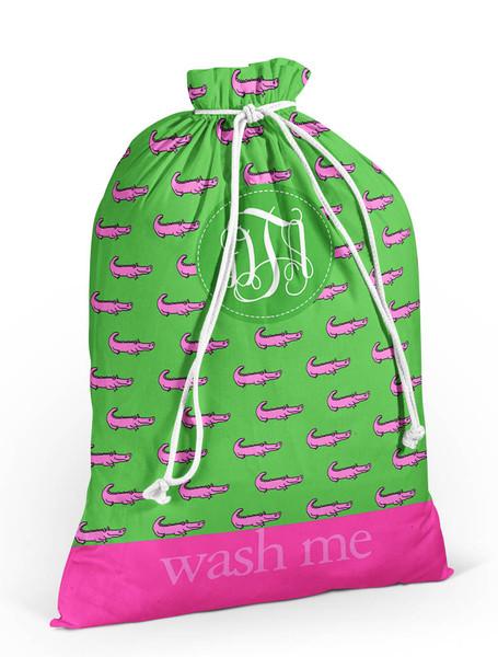 Laundry Bag- Preppy Alligators
