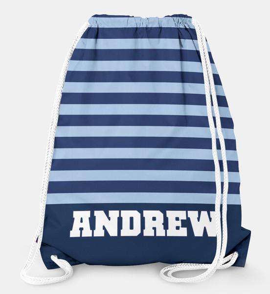Drawstring Backpack-Rugby Stripe
