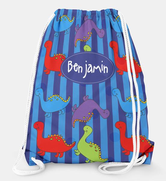 Drawstring Backpack- Dinosaurs