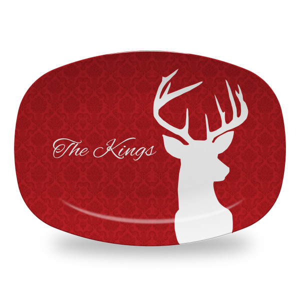 Microwavable Platter - Deer Damask