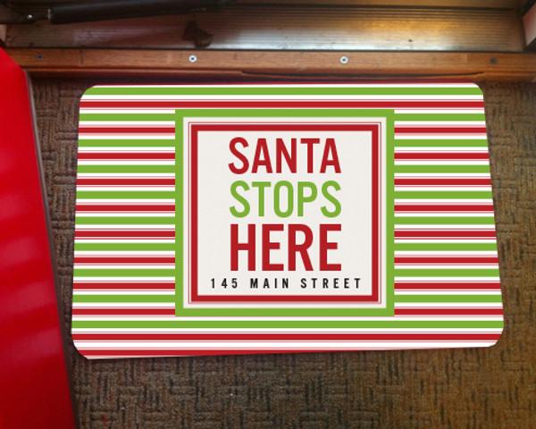 Doormat - Santa Stops Here