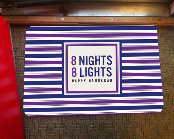 Doormat - Hanukkah Eight Nights
