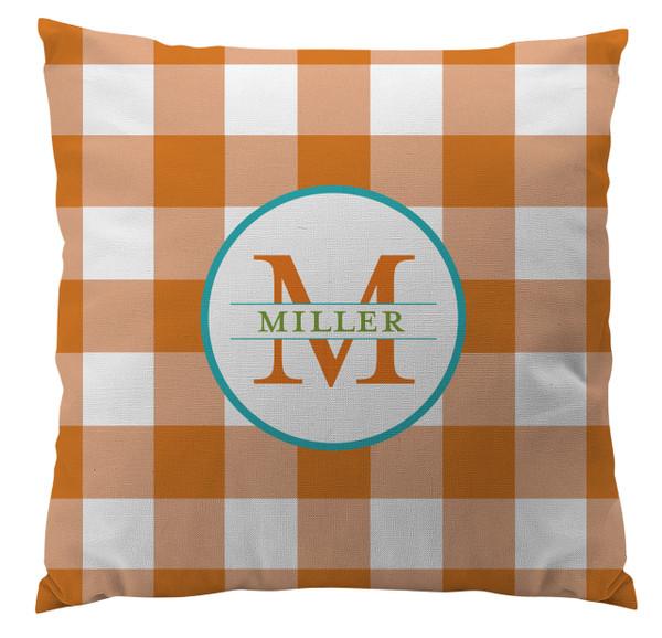 Pillows - Gingham Orange