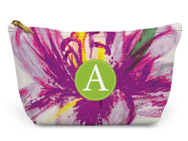 Accessory Zip T-Tote- Purple Floral Large