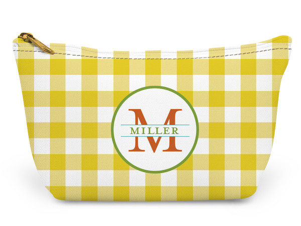 Accessory Zip T-Tote- Yellow Gingham