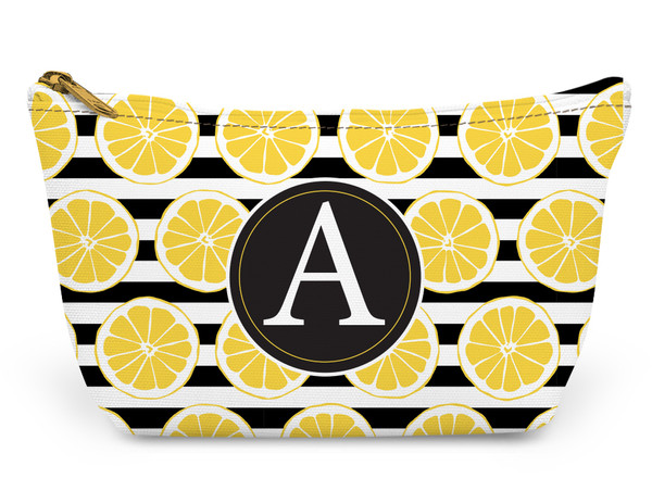 Accessory Zip T-Tote- Lemon Stripes