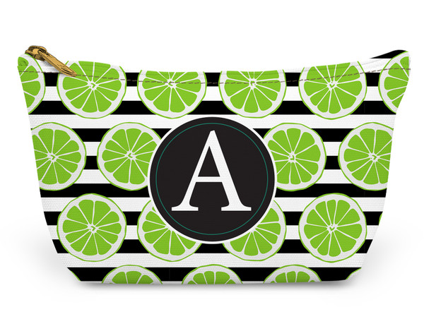 Accessory Zip T-Tote- Lime Stripes
