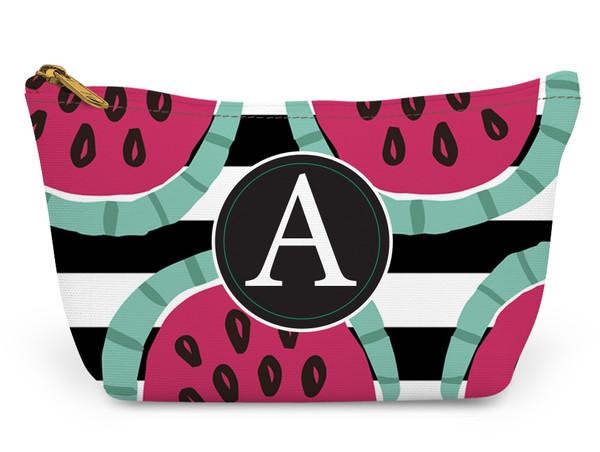 Accessory Zip T-Tote- Watermelon Stripes