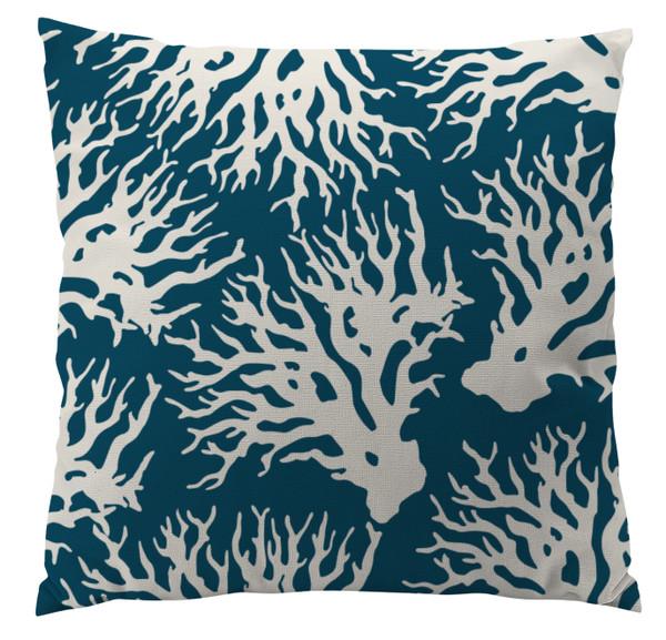 Pillows - Smoky Teal Coral