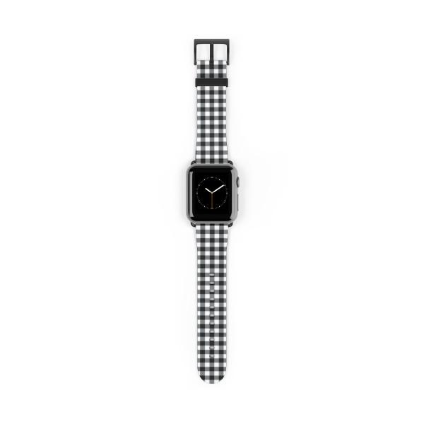 Apple Watch Band - Buffalo Plaid Black and White