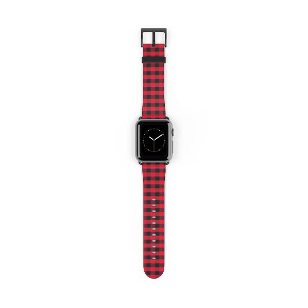 Apple Watch Band - Buffalo Plaid Red