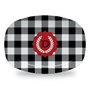 Microwavable Platter - Buffalo Plaid Black and White