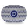 Microwavable Platter - Hanukkah Menorah Gray
