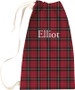 Laundry Bag - Red and Black Plaid